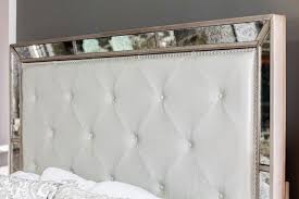 Tufted Headboard King Mirrored Tufted Headboard As A Component In The Bedroom Home