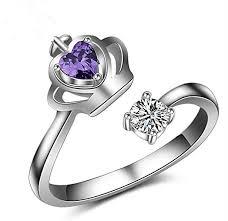 diamond rings girls images Lumanuby 1pcs rings fashion diamond bend open ring white diamond jpg