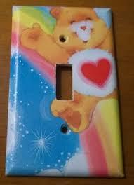 bear light switch covers rare vtg care bear cousins switchplate light switch cover swift
