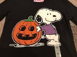 halloween long sleeve t shirts navy peanuts snoopy pumpkin black t shirt halloween long sleeve