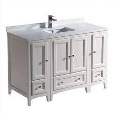 Antique White Vanity 48 Inch Vanities Bathroom Vanities Bath The Home Depot