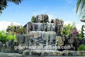 Artificial Landscape Rocks by Factory Artificial Rock Waterfall Fiberglass Rock For Park Road