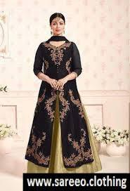 designer dress black color anarkali salwar kameez indian designer dress