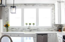 My DIY Marble Backsplash Honeybear Lane - Marble backsplash tiles
