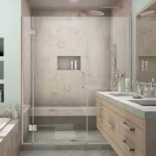kohler revel 48 in x 70 in frameless pivot shower door in
