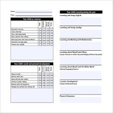 preschool report card template report card template 21 free word pdf psd eps format