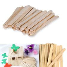 sticks wood 100 pcs wood popsicle sticks wooden craft sticks wax 4 1 2