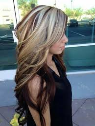 hi and low lights on layered hair hi lowlights highlights lowlights pinterest hair coloring