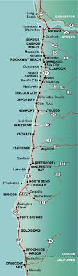 map of the oregon coast oregon coast highway 101 mile by mile travel guide