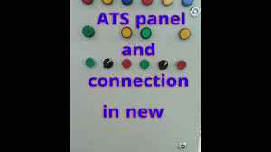 auto transfer switch ats working and ats control panel wiring
