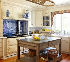 French Kitchen Island Marble Top Country French Kitchens Traditional Home