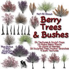 second marketplace fud berry tree bush sculpt map