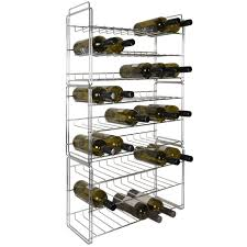metal wine rack sauvignon chrome coated winerack plus co uk