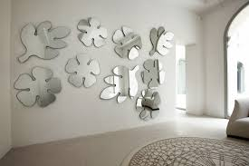 endearing wall mirror ideas with delectable leaf and flower mirror