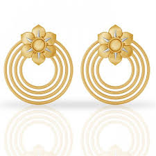 gold ear ring image blossom gold earring jacknjewel