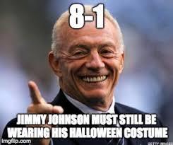 Jerry Jones Memes - jimmy johnson in jerry jones costume imgflip