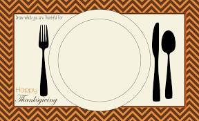 thanksgiving placemat table tents favor tags free printables