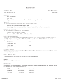 Traditional Resume Sample by Basic Babysitter Resume Template Free Download