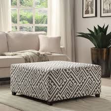 White Fur Ottoman by Design Cocktail Ottoman Furniture Ideas With Smooth Wooden Floor