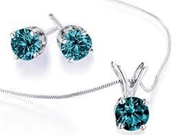 diamond necklace earring set images Blue diamond necklace and earring set 1 2 carat ctw jpg