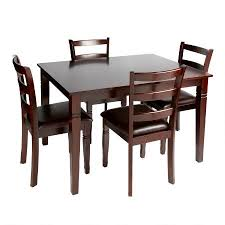 espresso dining table and chairs 5 set tree