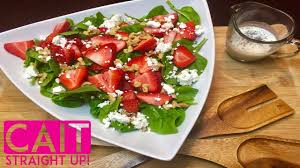 spinach u0026 strawberry salad homemade poppy seed dressing cait