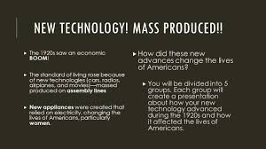 challenges of the 1920s roaring 20s new technology mass