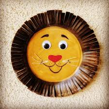 the joy of sharing paper plate lion craft