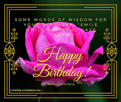 words of wisdom for the happy pink happy birthday card some words of wisdom for your