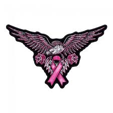 pink eagle breast cancer ribbon patch breast cancer awareness patches