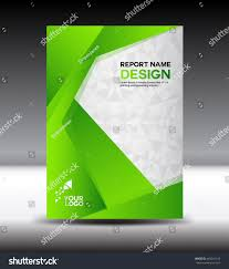 green cover design annual report vector stock vector 449241319