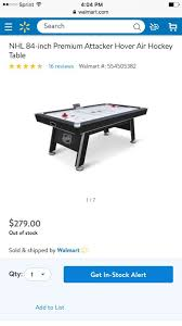 84 air hockey table nhl 84 inch premium air hockey table 200 games toys in smyrna ga