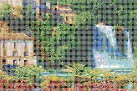 Waterfall Glass Tile Colourful Mosaic Art See Our Tile Pictures Or Design Your Own