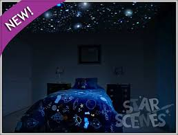 glow in the dark secret star ceiling mural invisible by day