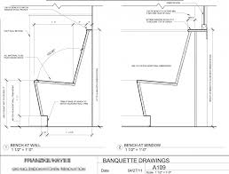 plan42 gorgeous banquette seating plan 42 corner banquette seating plans