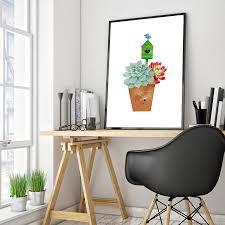 aliexpress com buy succulent green plant canvas art print poster