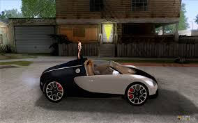 custom bugatti bugatti veyron 16 4 grand sport sang bleu for gta san andreas