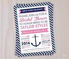 nautical bridal shower invitations nautical bridal shower invitation printable anchor invite