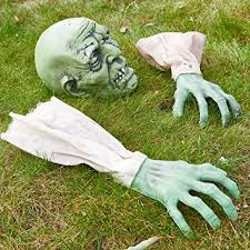 Halloween Home Decor Amazon by Amazon Com Prextex Halloween Zombie Face And Arms Lawn Stakes For