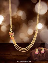 sted necklace gold step chain necklace from one south india jewels