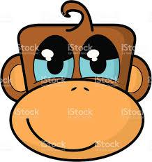 cartoon monkey face stock vector art 165550409 istock