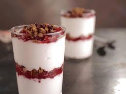 pumpkin granola and orange cranberry jam with maple yogurt
