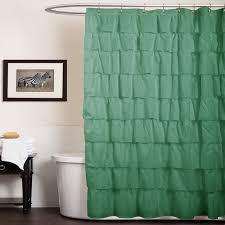 Bathroom Shower Curtain Decorating Ideas Bathroom Awesome White Ruffle Shower Curtain For Excellent