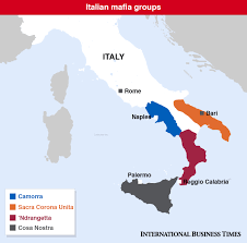 Italian Map Hundreds Of Suspected Mafia Mobsters Rounded Up In Police