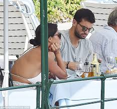 Elbows On The Table Nicole Scherzinger Wears Revealing White Bodysuit With Beau Grigor