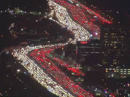 horrendous 405 backup is a thanksgiving traffic nightmare