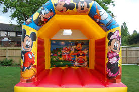 mickey mouse clubhouse bounce house mickey mouse castles inflatables for hire in and around