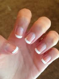 french tip nails using sally hansen white nail art pen nothin