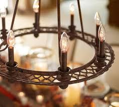 Ring Chandelier Ornate Iron Ring Chandelier Pottery Barn