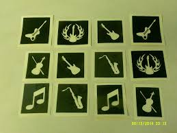10 100 x music themed stencils for etching on glass hobby craft